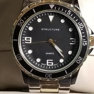 MENS STRUCTURE TWO TONE WATCH
